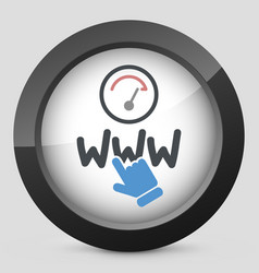 Web connection icon vector