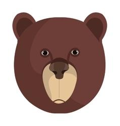 Bear cartoon animal isolated in white vector image