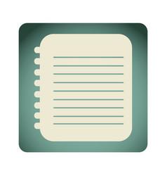 blue emblem notebook paper icon vector image