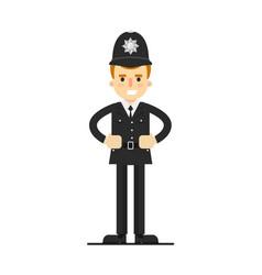 British policeman in uniform vector