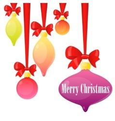 Card Christmas balls vector image vector image