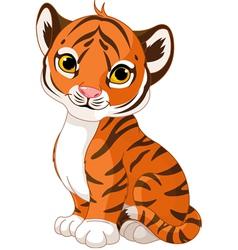 Cute tiger cub vector image vector image