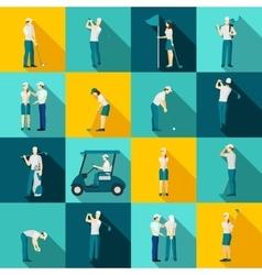 Golf People Flat vector image