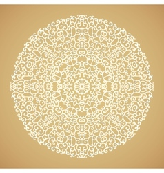 Round mandala kaleidoscopic ornamental background vector image vector image