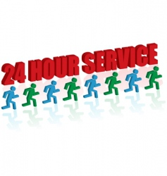 24 hour service vector image