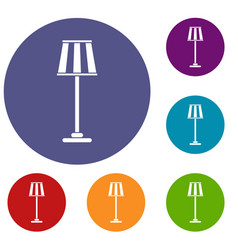 floor lamp icons set vector image vector image