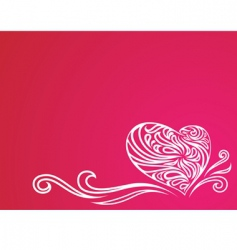 heart ornament background vector image