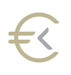 money coin logo vector image vector image
