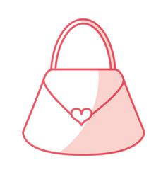 shadow purse cartoon vector image