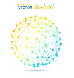 Spherical wireframe vector image