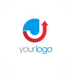 Arrow up company logo vector