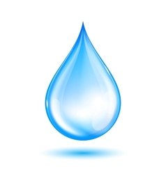 Blue shiny water drop vector