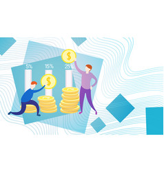 Business people with coin money currency rich vector
