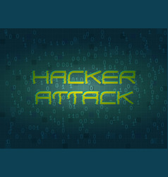 Hacker attack technology background concept vector