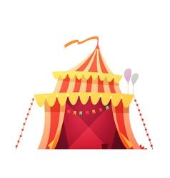 Traveling Circus Tent Retro Cartoon Icon vector image