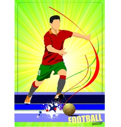 al 0345 soccer poster 02 vector image vector image