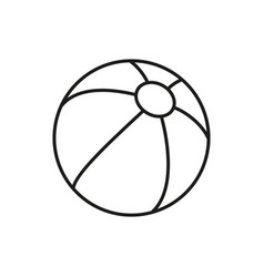 ball for kid icon on white background vector image