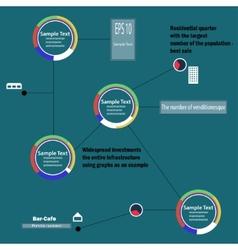 Circular infographics vector image vector image