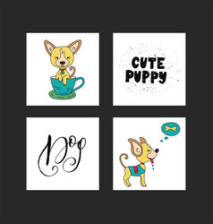 collection of with cute dogs and vector image vector image