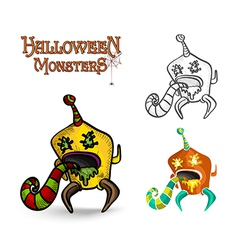 Halloween monsters spooky creature EPS10 file vector image