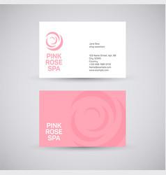 pink rose spa vector image