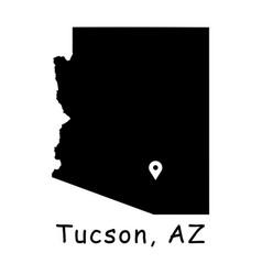 1306 tucson az on arizona state map vector image