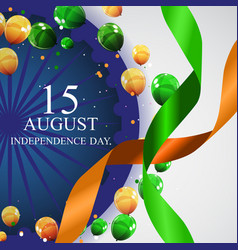 15th august india independence day celebration vector