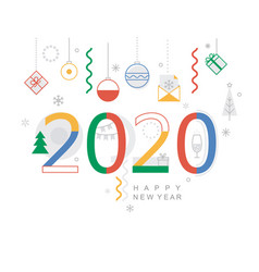 2020 new year minimal banner vector image