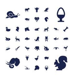 Animal icons vector