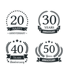 anniversary emblems vector image