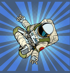 astronaut the yoga lotus position top view vector image