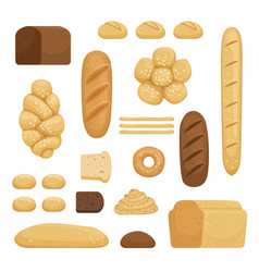 Bakery products of different vector