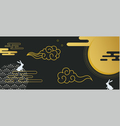 Banner for mid autumn festival asian harvest vector