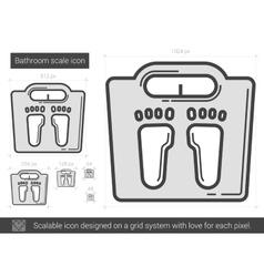 Bathroom scale line icon vector