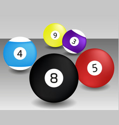 billiard ball black game pool isolated vector image