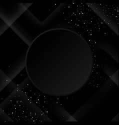 black background with luxurious black geometric vector image