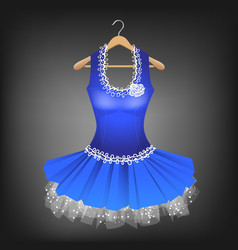 blue dress with lace vector image