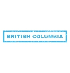 British Columbia Rubber Stamp vector image