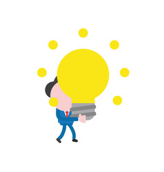 Businessman character walking and holding glowing vector
