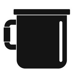 Camp cup icon simple style vector