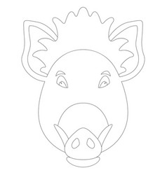 cartoon wild boar vector image