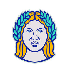ceres roman agricultural deity mascot vector image