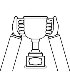 Champion trophy cup vector image