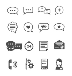 Chat icon black vector