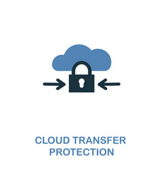 cloud transfer protection icon in two colors vector image