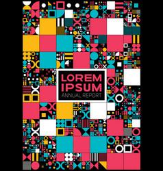 Colorful minimal covers procedural design vector