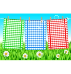 colorful towels background vector image