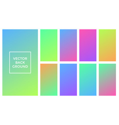 colors gradient backgrounds set vector image