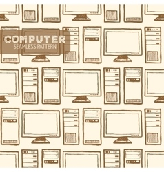 Computer seamless pattern vector