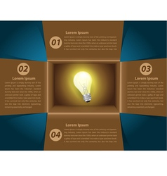 Creative Template idea light bulb glowing in box vector image